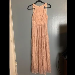 Jane Lace Maxi Dress by Coconinno in Blush